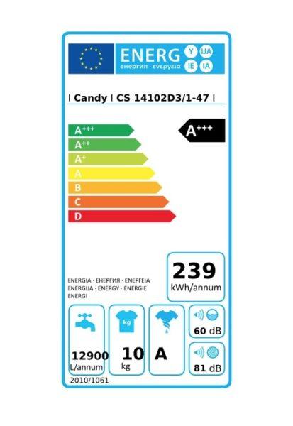 Lave Linge 10 Kg Cs14102d3 1 Candy à 299