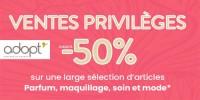actu Ventes privilèges Adopt' !