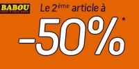 actu Le 2 ème article à -50%
