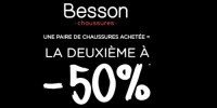actu 1 paire de chaussures achetée, la 2ème à 50%
