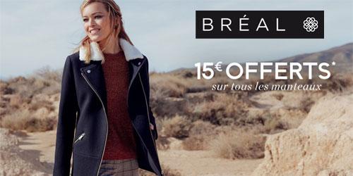 Offre manteaux Bréal !
