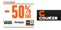 actu -50% sur Reebok, Vans & New Era