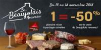 1 planche mixte à partager = -50% sur le verre de Beaujolais