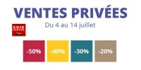 actu Ventes privées Cuir Center !