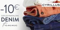 -10€ sur une sélection de pantalons denim femme