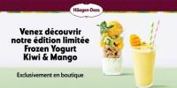 actu Fronzen yogurt, Kiwi & Mango !