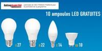 actu 10 ampoules Led gratuites*