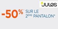 actu 50% sur le 2ème pantalon