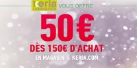 actu 50 euros offerts pour 150 euros d'achat !