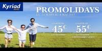 actu Les Promolidays vacances de Pâques !