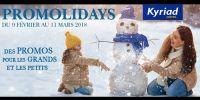 actu Promolidays vacances de Février