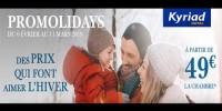 actu Promolidays - Vacances de Février