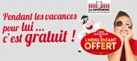 1 menu adulte achet� = 1 menu enfant offert