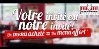 actu Une menu acheté = un menu offert