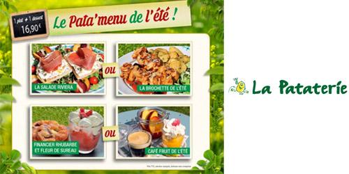 Le Pata'menu de l'été !