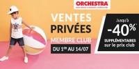 actu Ventes privées Orchestra !