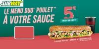 actu Le menu duo poulet à votre sauce !