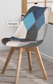 image noz chaises scandinaves patchwork