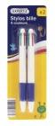 photo 2 stylos à bille 4 couleurs