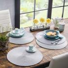 4 sets de table tresseacutes