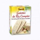 6 galettes de riz fourrees gout chocolat et noisettes