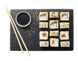 6 sushis futocalifornia rolls au saumon cru