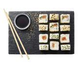6 sushis futocalifornia rolls au saumon