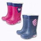 bottes de pluie fourreacutees avec semelles lumineuses fille