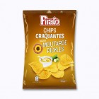 chips craquantes saveur moutarde pickles