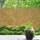 clocircture de jardin en roseau