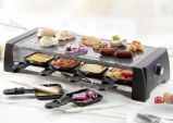 combine 2-en-1 raclette et pierre de cuisson