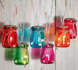 photo Guirlande LED avec 6 pots en verre