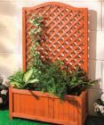 jardiniere avec treillage en bois