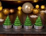 lot de 4 bougies figurines de noel