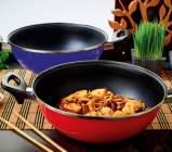 poele wok avec 2 poignees