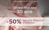 -50% sur une selection darticles chez alinea