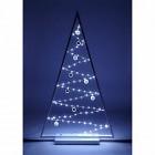 arbre en bois blanc lumineux 85 micro led h115cm arbre