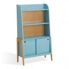 bibliotheque vintage bleue pour enfant vintage