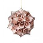 boule en forme de fleurs roses d10cm boule