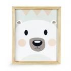 cadre 33x27cm pour enfant motif ours scandinave eskimo