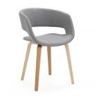 chaise avec accoudoirs gris joyau