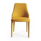 chaise en tissu jaune anemone