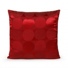 coussin carre brillant rouge disco text
