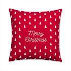 coussin en coton rouge a motifs 40x40cm christmass