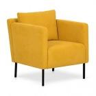 fauteuil en tissu jaune jenny