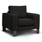 fauteuil en tissu noir california