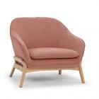 fauteuil en tissu rose vik
