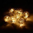 guirlande lumineuse de boules givrees 10 led - l2m70 mercure