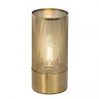 lampe a poser en laiton brosse h27cm gracian