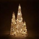 lot de 3 cones lumineux a piles bergerie